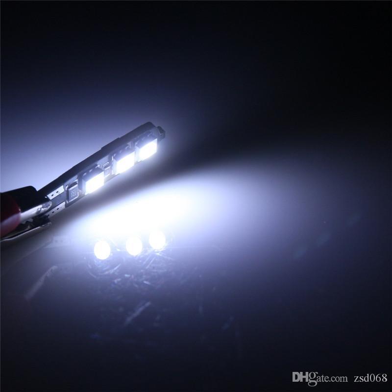 Lampe blanche T10 6-SMD 194 168 LED Lampe de largeur de queue de voiture sans erreur Canbus 12v