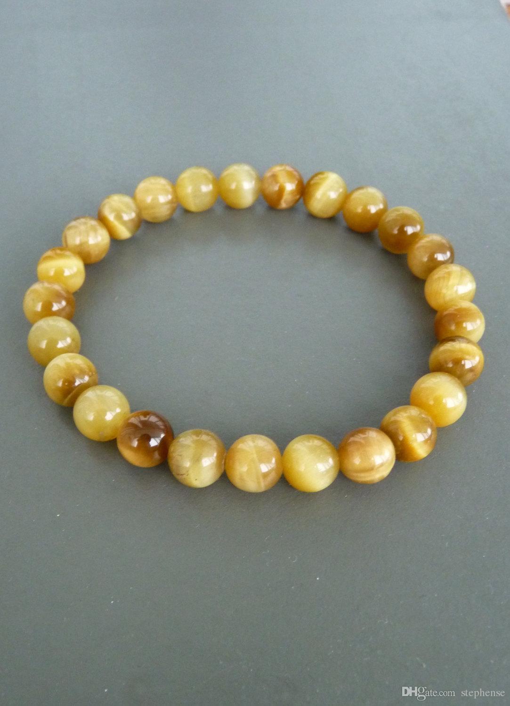SN1155 New Arrival Yellow Tiger Eye Bracelet Mens or Womens Stretch Bracelet Natural Stone Bracelet Wholesale