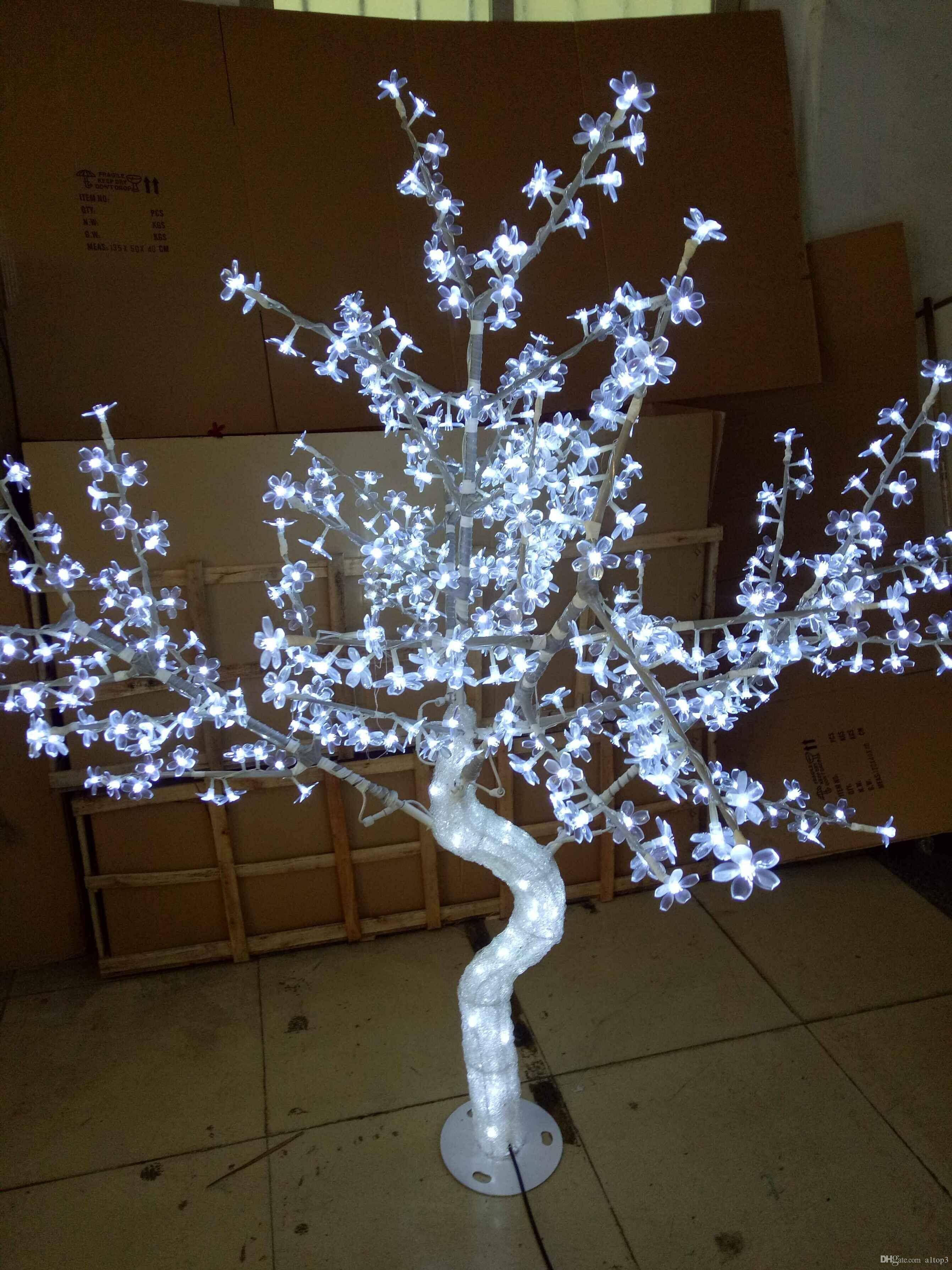 2018 5ft 15m led christmas new year light crystal cherry blossom tree with white leafs outdoors from a1top3 25629 dhgatecom