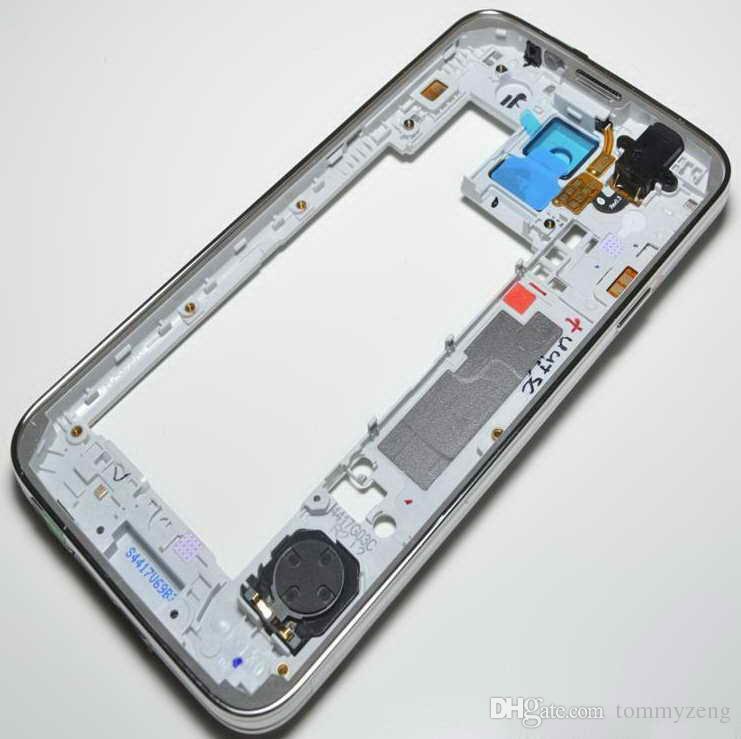 OEM Middle Frame Lünette hinteres rückseitiges Gehäuse mit Ersatzteil für Samsung Galaxy S5 G900I, G900f, G900A, G900 geben DHL frei