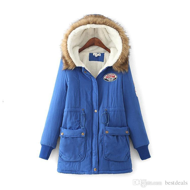 In Stock Winter Jacket Women New Winter Womens Parka Casual Outwear Hooded Coat Fur women Coat Manteau Femme Woman Clothes FS3128
