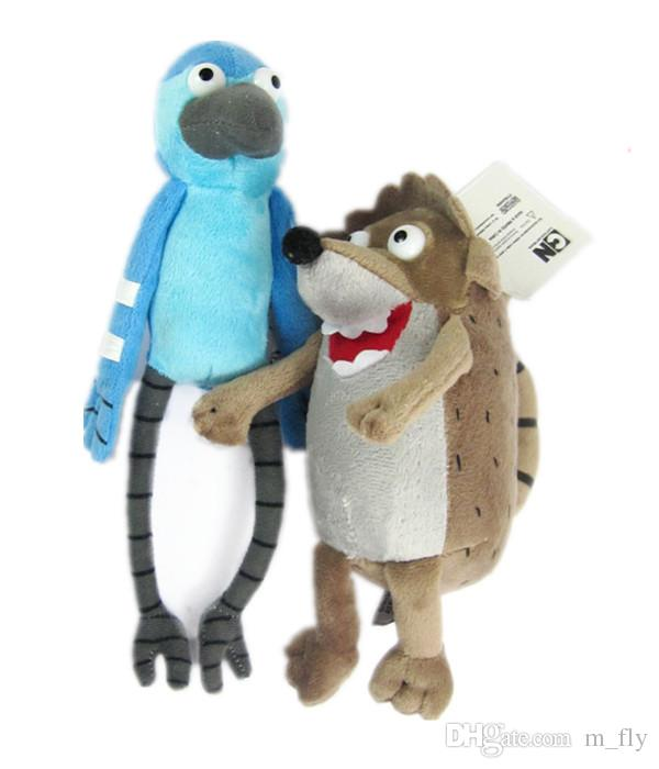 2019 Regular Show Characters Mordecai And Rigby Plush Doll PP Cotton Filled Soft  Stuffed Cartoon Animal Toy From M fly ab1726fa8