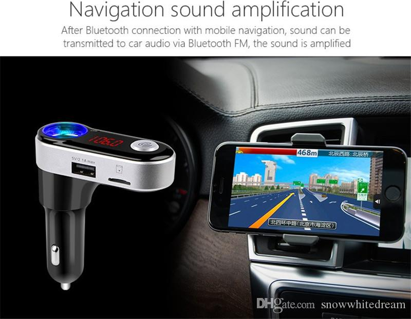 BC09B Car MP3 Audio Player Bluetooth FM Transmitter Wireless FM Modulator Car Kit HandsFree USB Charger for iPhone