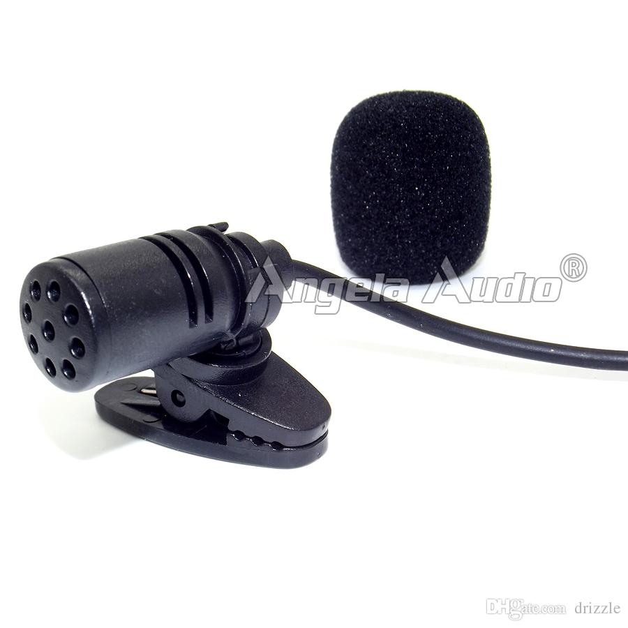Black Mini XLR 3 Pin TA3F 3PIN Connector Tie Clip On Lapel Lavalier Microphone Mic Mike For SAMSON Wireless BodyPack Transmitter