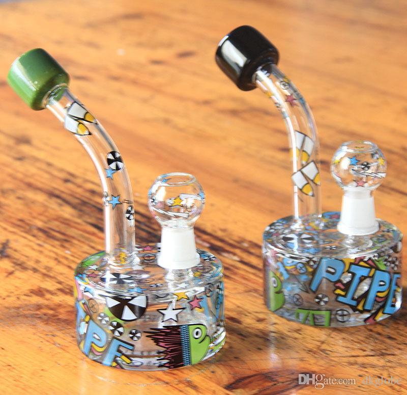 Neues Design Neue Zeichnungen Vielfalt der Farben Ouchkickglas Bong Neue Skizze Bong Water Pipe Zufallskizze Designs Glas Bubbler
