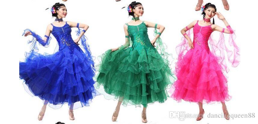 Faldas de baile de salón es Vestido De Formatura S-XXXL Beyonce Leotardo 2016 Nuevo vestido de vals Escapulario Envío gratis