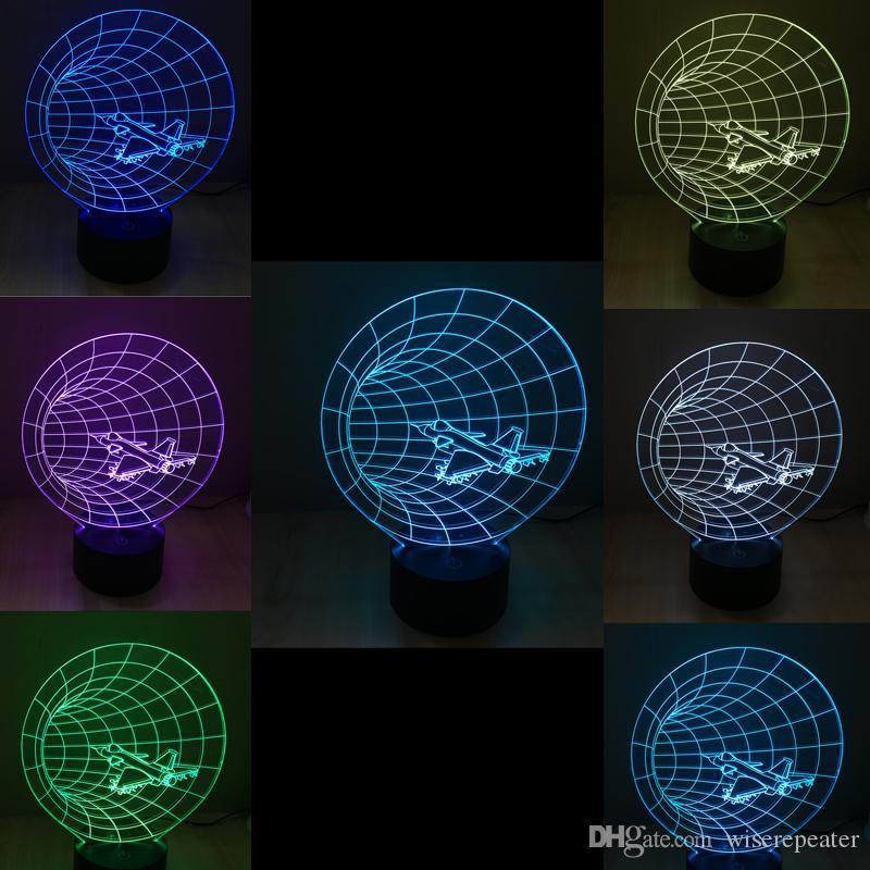 Gros Machine Time 3d Style 2016 9 Leds En Lampe Dc 5v Nuit Usine Lumière Optique hQxrdsCt