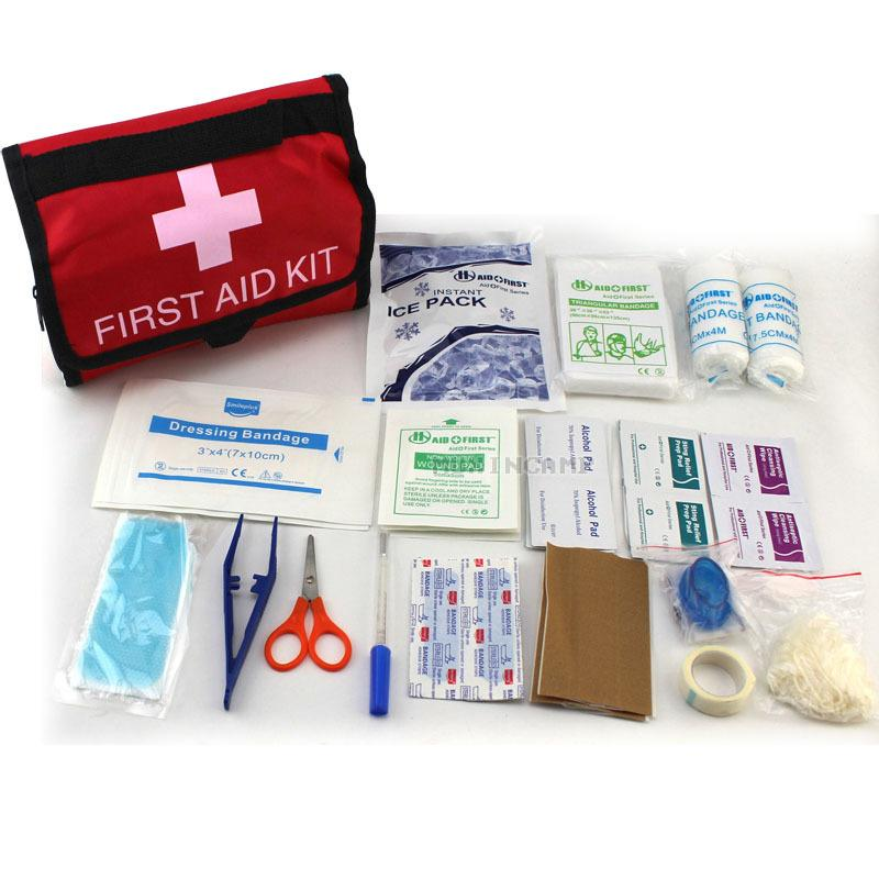 18 in 1 useful first aid kit for outdoor travel sports emergency survival indoor car treatment medical bag first aid kits bag st john first aid supplies