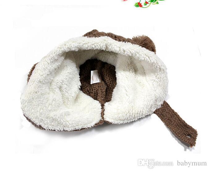 crochet beanie for baby boy girl child cap winter bear Cute Ears caps infant Christmas warm hat plush hat