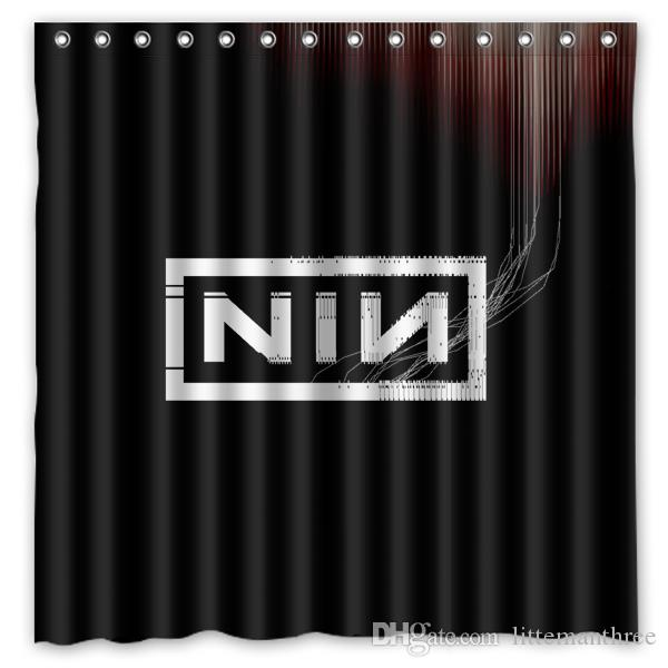 2018 NIN Nine Inch Nails Letters0 Design Shower Curtain Size 180 X Cm Custom Waterproof Polyester Fabric Bath Curtains From Littemanthree