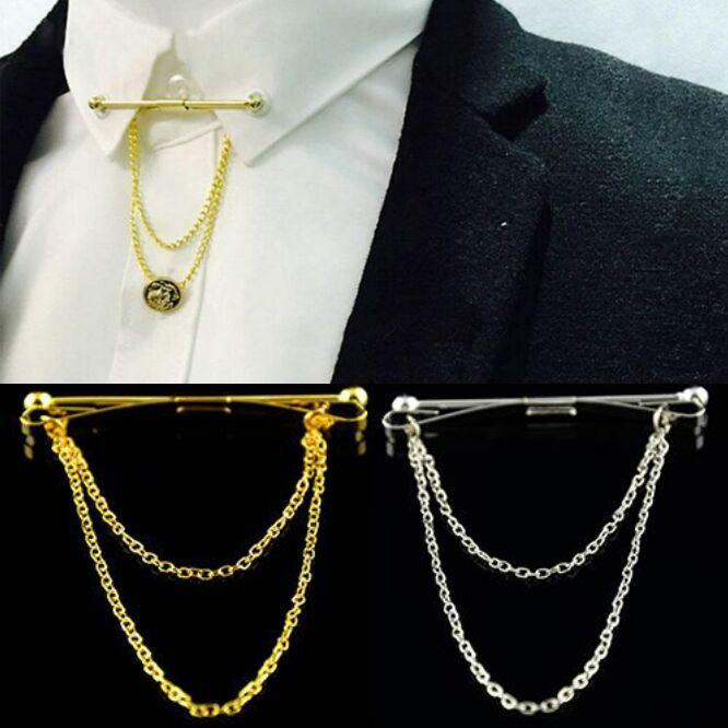 Tie Bar Collar Shirt Of Tie Pin With Chain Best Chain 2018