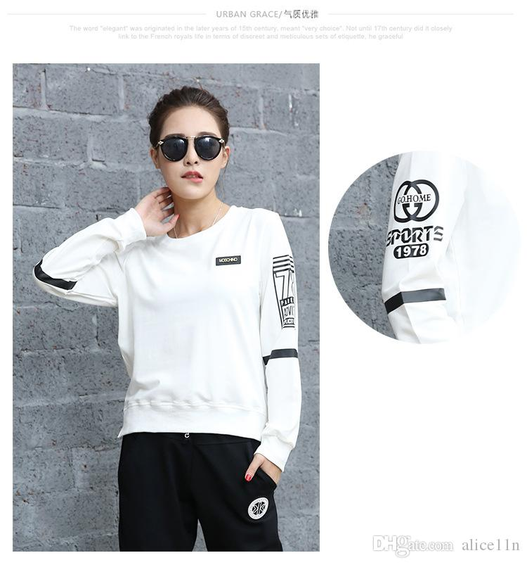 The new dress 2016 han edition cultivate one's morality leisure fashion long-sleeved qiu dong round collar sweater female T-shirt coat