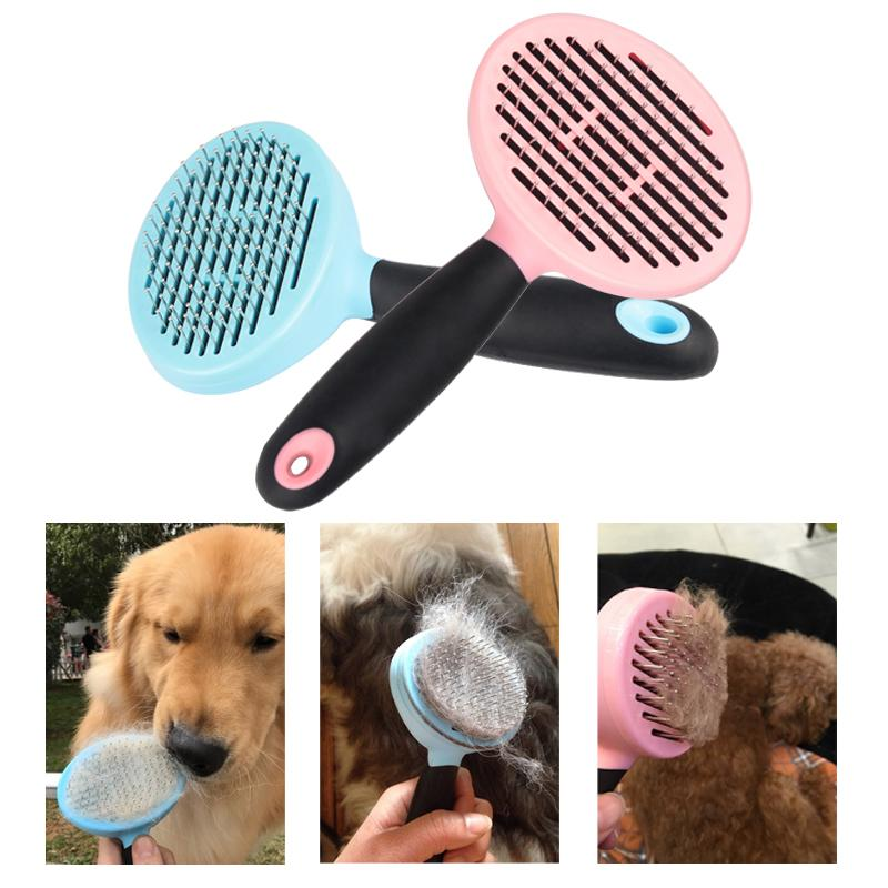 Pet Dog Brush Puppy Cat Hair Fur Grooming Shedding Comb Tool For Long & Short Hair Dogs and Cats