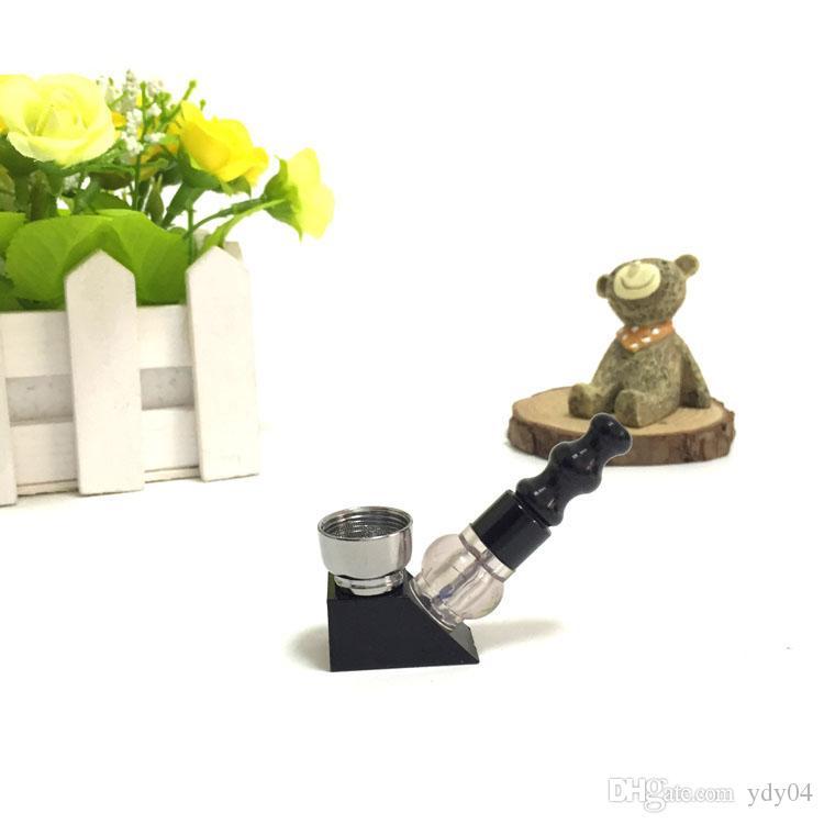 Mini Funky Metal Tubo Moda Moda MAGIC Rossetto Tubo, Mini Portatile in metallo Tubo di fumo Tubo di alluminio Tabacco Steli di bambù