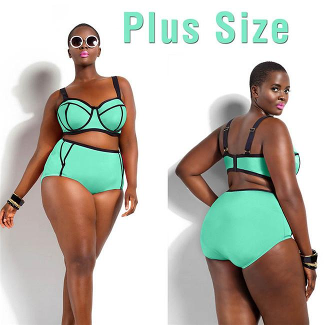 2018 2016 top women swimsuit plus size bikini set up 4xl high