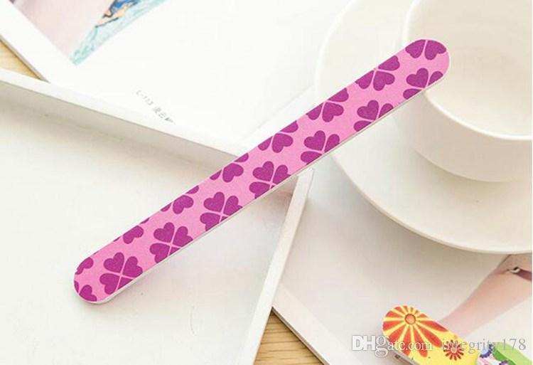 2016 High Quality Nail Files Buffer Sanding Washable Manicure Tool Nail Art Polish Sandpaper Strip Bar Set Polishing File Tool Sponge