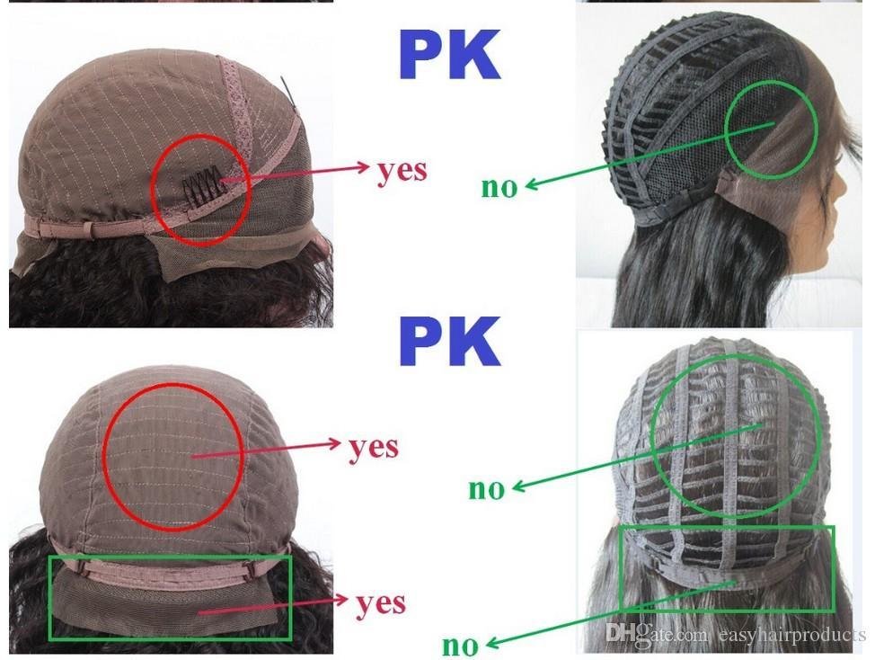 Parrucche capelli umani le donne nere Parrucche peruviane ricci crespi afro-crespi con i capelli del bambino 8-32 pollici G-EASY Capelli DHL LIBERO