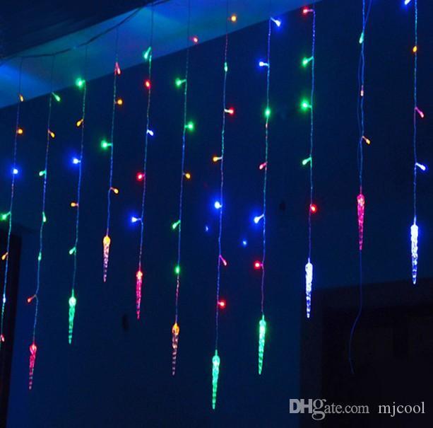 4 m * 0.7 m 100 LED Sincelo Luzes Da Cortina de Natal Levou Sincelo Corda Luzes De Fadas Para Casa Festa Decoração de Casamento