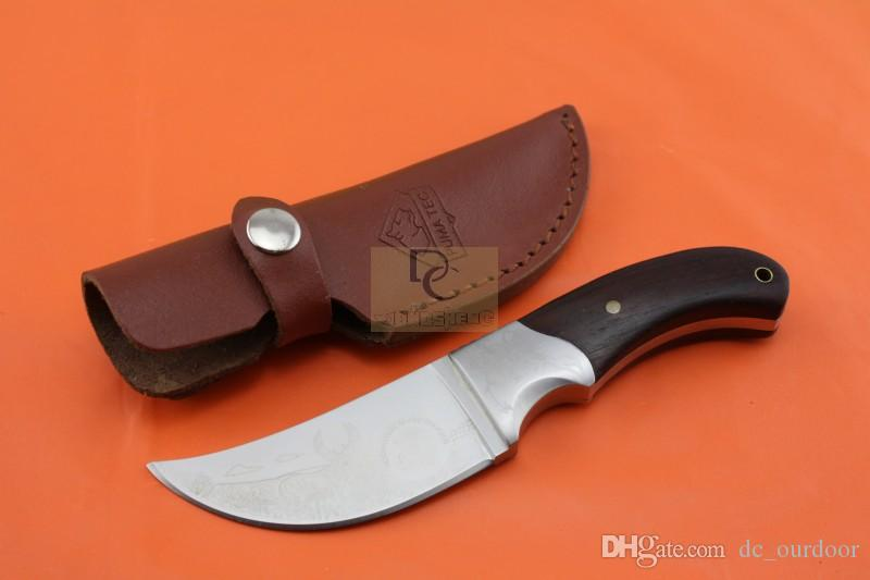 Browning African Rhinoceros hunting knives 440C 57HRC copper head + Rose wood handle fixed blade knives for Camping Survival
