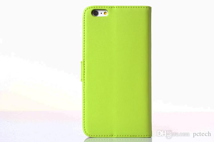 Wallet Leather Cell Phones Cases for Iphone 7 Plus I7 goophone I6s I6 plus Iphone 5 5s with kickstand choice
