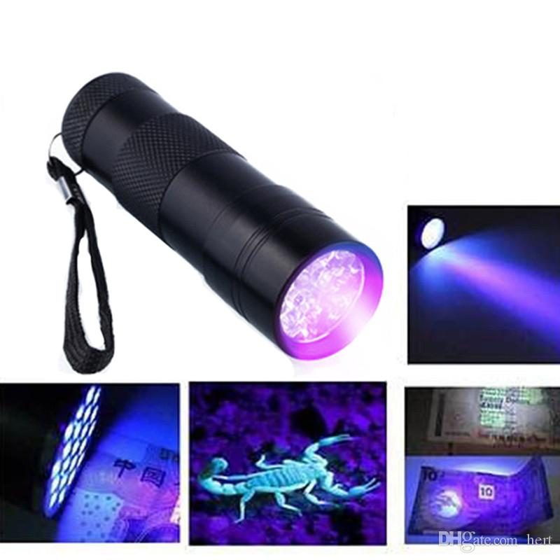 Professional mini potable new arrive Fluorescent agent detection UV 395nm led Flashlight torch lamp purple violet light For3AAA battery