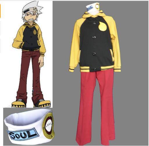 Ücretsiz kargo ! Anime Soul Eater Soul Evans Cosplay Ceket Kaban Pantolon Kafa Kostümleri