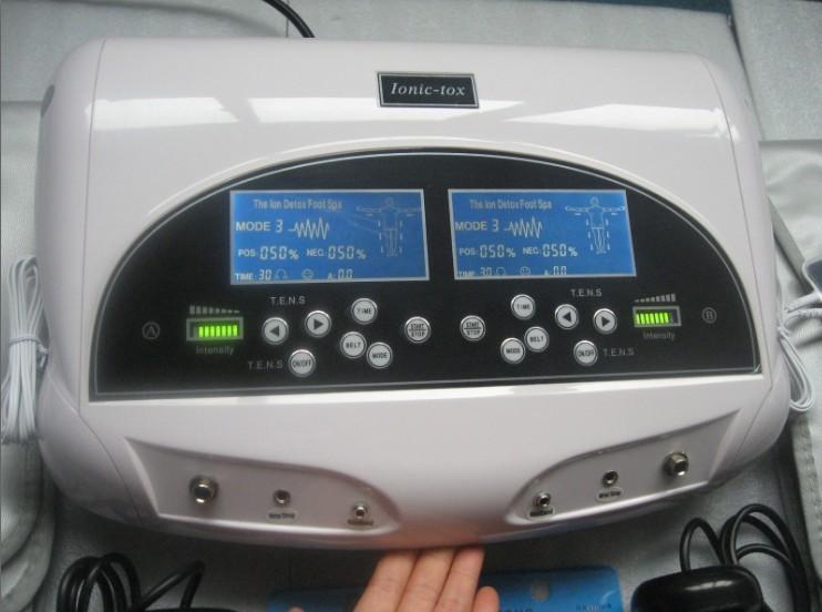 하이테크 듀얼 론 정화 해독 발 스파 DHL / 페덱스 / UPS / EMS 높은 이온 청소기 해독 기계 스파