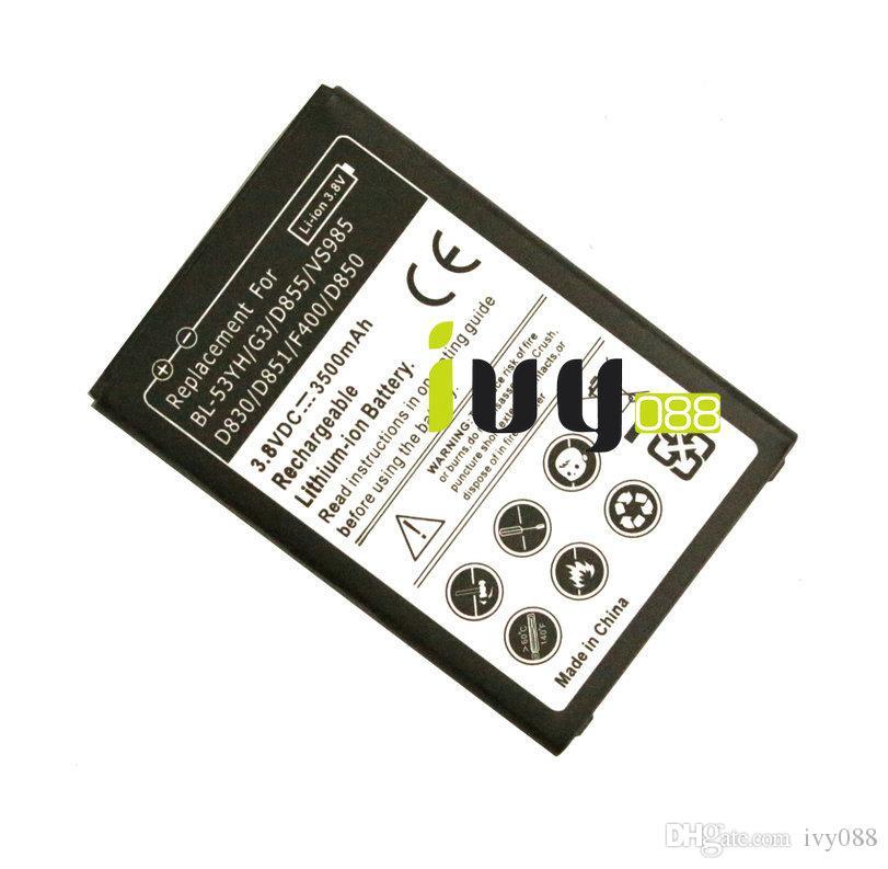 3500 mAh BL-53YH Yedek Pil Için LG G3 D855 F400 F460 D830 VS985 D850 D851 D855 D858 D859 LS990 Piller Batteria