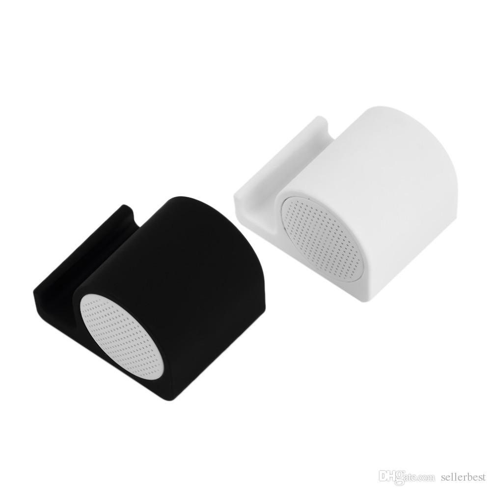Universal 3.5mm Subwoofer Snail Haut-Parleur Mini Douche Sans Fil Haut-parleurs Étanches avec Support de Téléphone Stander Titulaire