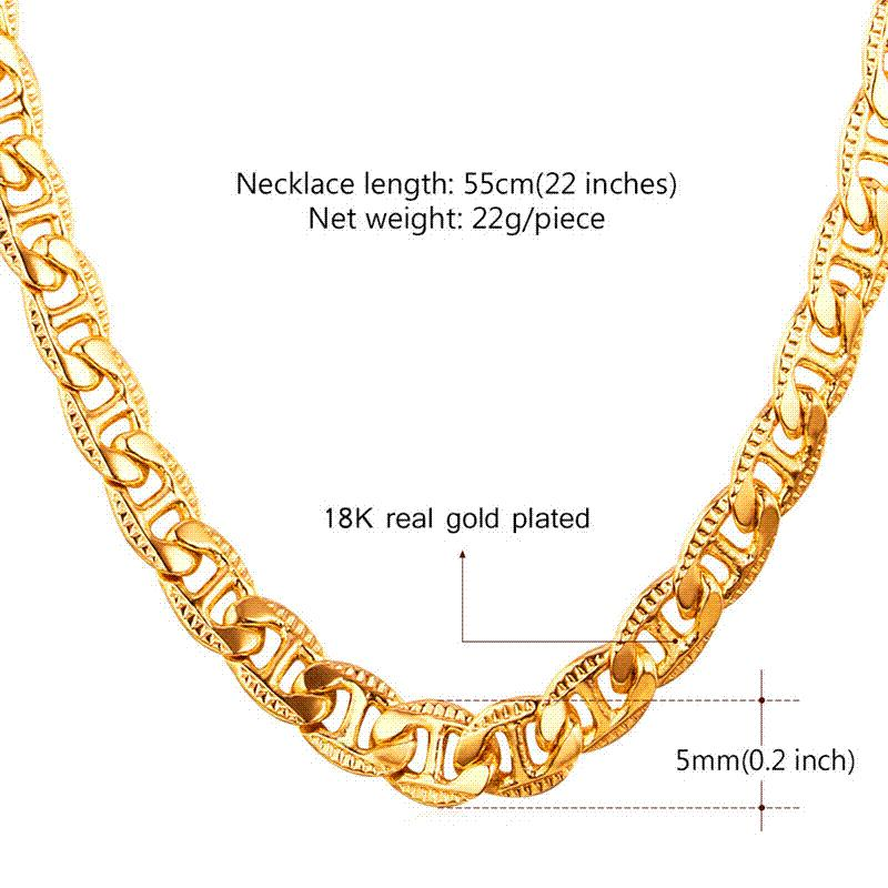 Wholesale 18k Real Gold Chain For Men Men Jewelry Wholesale New