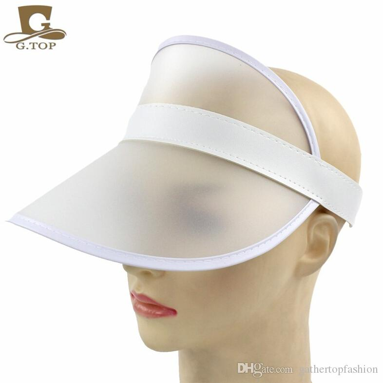 c0176c4ed4c 2019 Neon Sun Visor Peak Cap Clear Plastic Sunvisor Party Hat Festival  Fancy Dress Poker Headband From Gathertopfashion