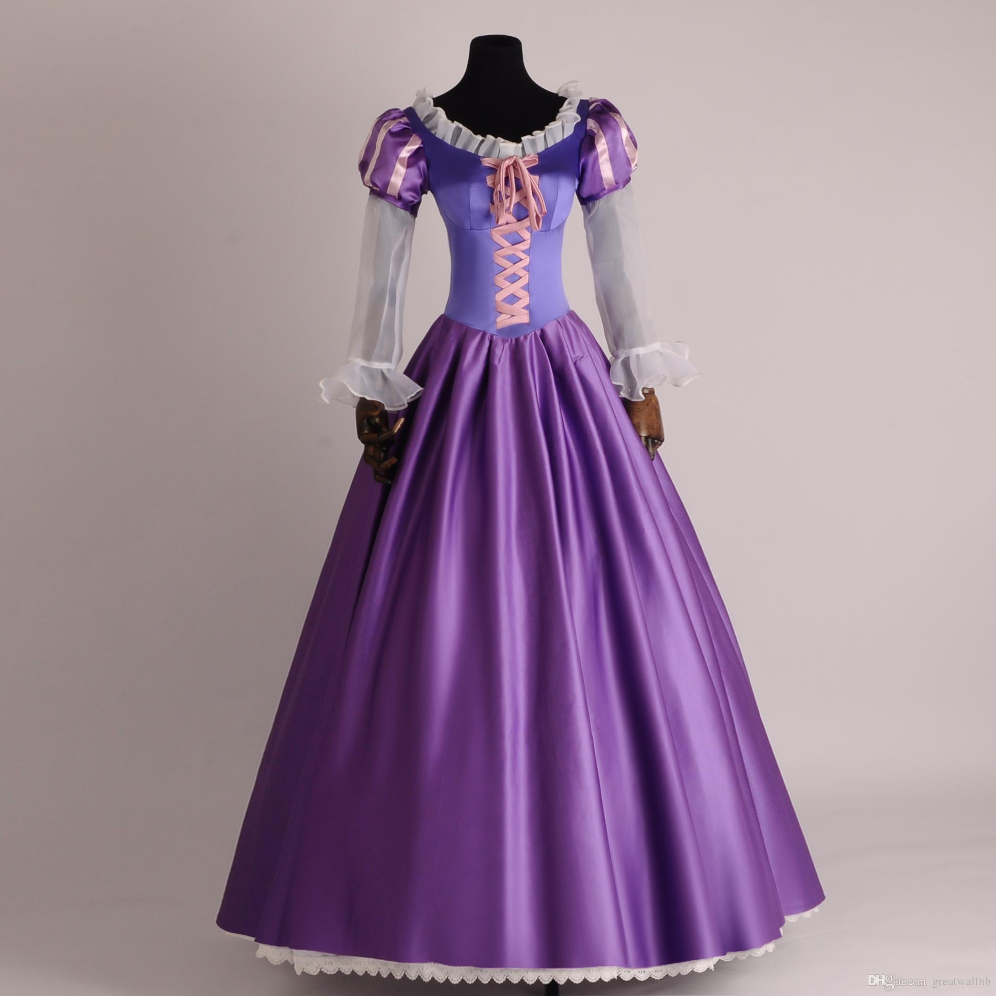 b65112938 Compre Vestido De Princesa Rapunzel Vestido Medieval Vestido De Princesa  Renacimiento Vestido Reina Victoria   Vestido De Gala   Belle A  150.26 Del  ...