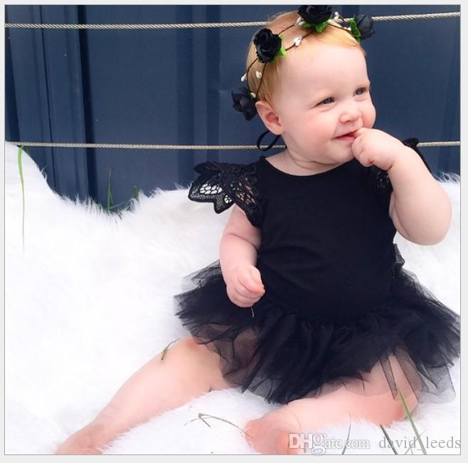 2016 New Summer Baby Girl Lace Rompers Infant Lace Tulle Tutu Skirt Onesies Toddler Babies Jumpsuits Newborn Sleeveless One-Piece