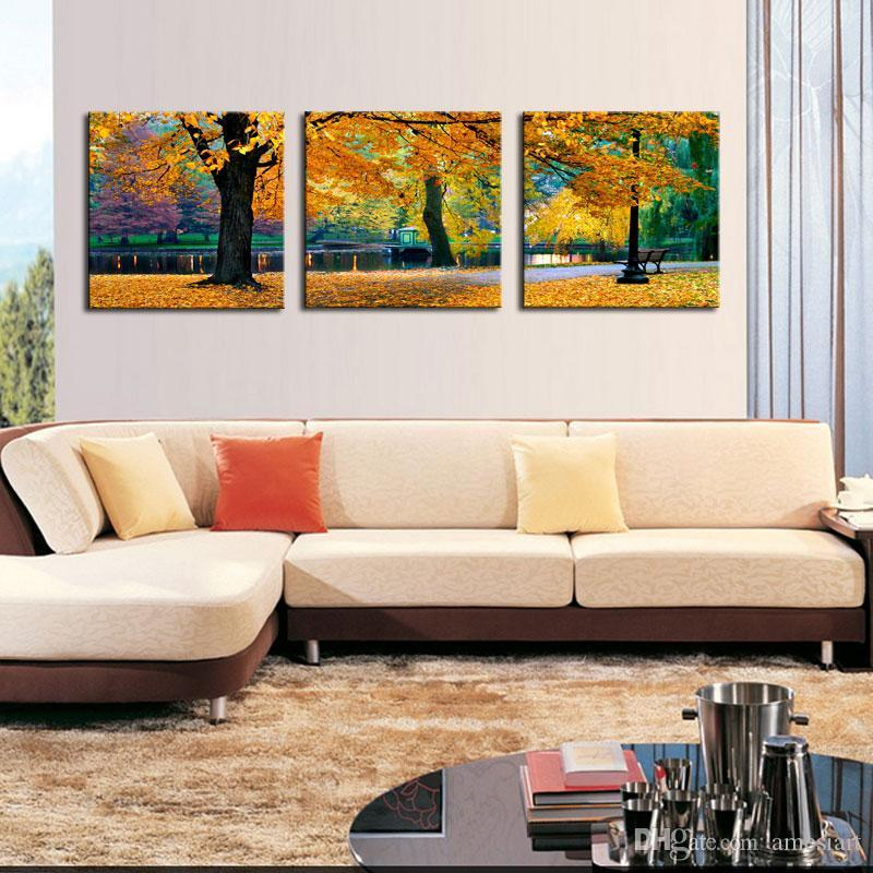 2019 wall art canvas maple tree nature artwork landscape - Landscape paintings for living room ...
