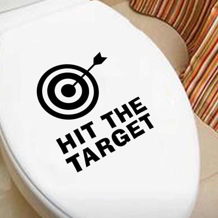 Diy Toliet Sticker Creative Lettering Bathroom Vinyl Waterproof Wall ...