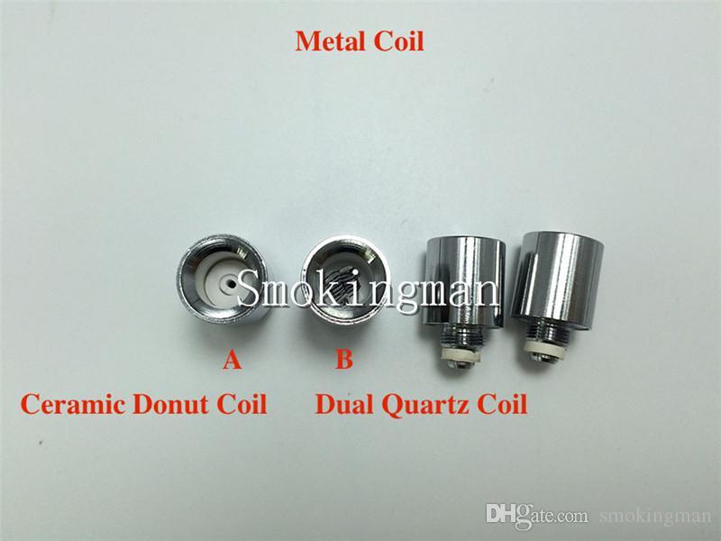 Ceramic donut Quartz Rod Coil Cotton Ceramic Rod Coil replacement core Metal Coil for Vase Cannon Bowling Glass Globe Atomizer VS Skillet