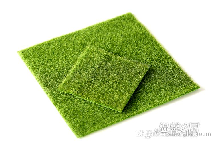 Micro Landscape Decoration DIY Simulation Plants Artificial Green Grass Mat Turf Lawn Garden Moss For Floor Decor