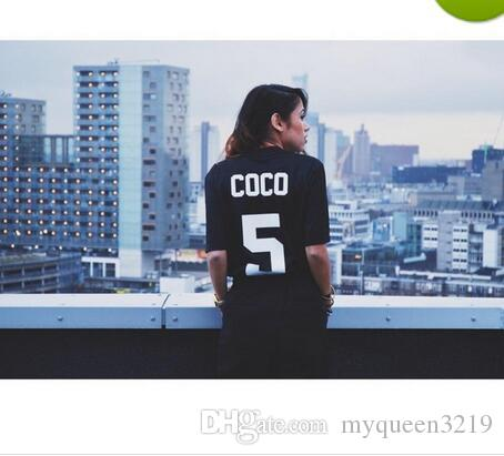 86343145a68106 Wholesale-Newest Cooperation Brand Dry Fit T Shirt COCO 5 T Shirts Hip-Hop  Unisex Summer T-Shirt FIT Dry Shirts High Quality Tees Crewneck T Shirt  Online ...