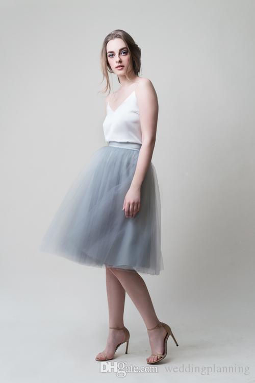 Luxury But Cheap Women Knee Length Tulle Skirts Dance Puffy Tutu Custom Made Tutu Skirts for Gilrs Fashion Bridal Clothing