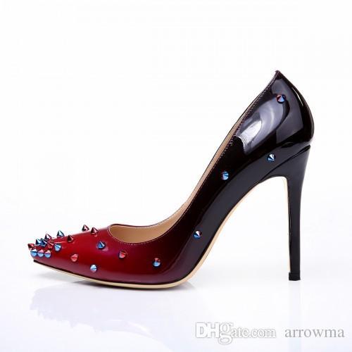 ful Wedding Shoes Pumps Summer Style Rivetti Tacchi alti Tacchi alti Plus Size Scarpe da sera da sera Sandali sexy Scarpe da sposa