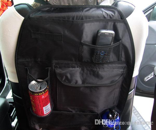 Multi Function Car Seat Side Back Net Storage Bag Pocket Backseat Hanging Bags Waterproof Fabric Cup Holder Travel Case Front