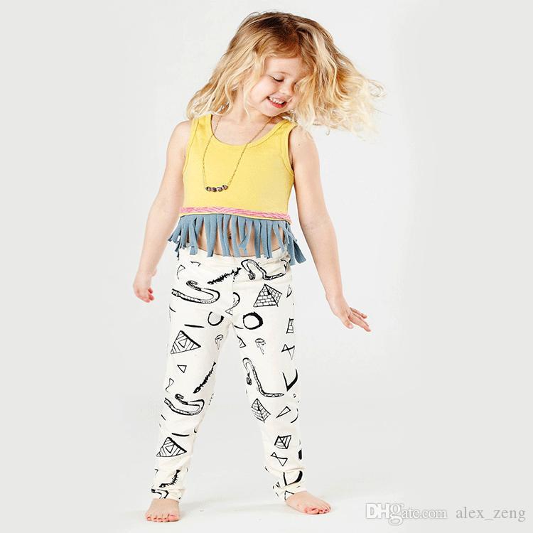 2016 INS bébé fille costumes manches longues t-shirts + pantalon / set bébé fille tenues enfants vêtements ensembles