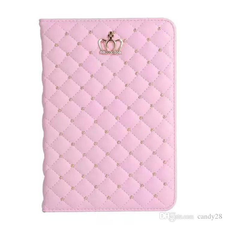 Роскошный горный хрусталь Корона PU кожаный планшет чехол для iPad 2 3 4 5 6 iPad мини 1 2 3 iPad воздуха 1 2 Чехол противоударный с подставкой покоя