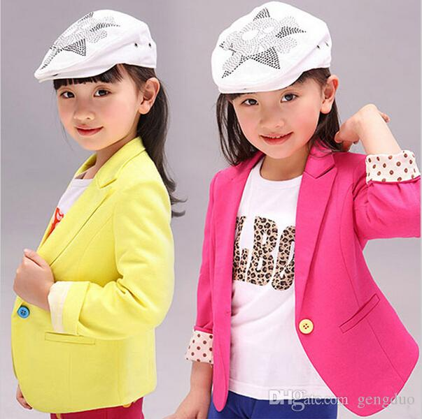 ec8dee47ab2f Girls Jacket Children S Clothing Kids Spring   Autumn Child Coat ...