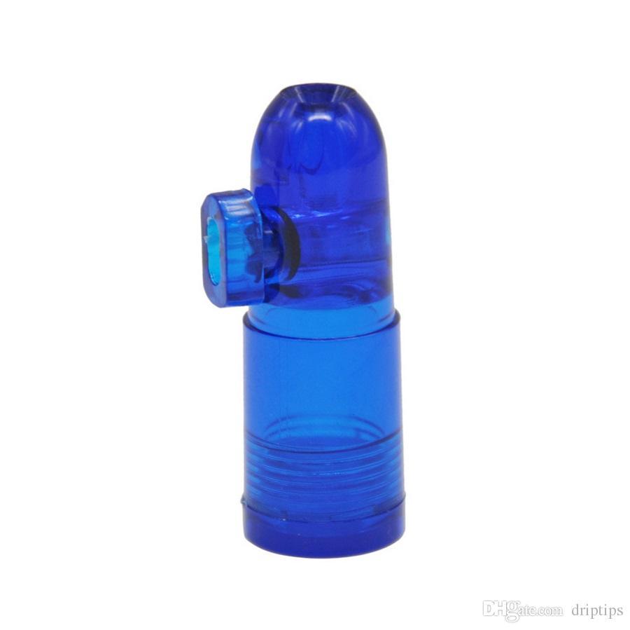Акриловые пластиковые нюхательный табак пули трубы с прозрачным дном ракетной формы носовой для стекла Бонг Smocking водопровод