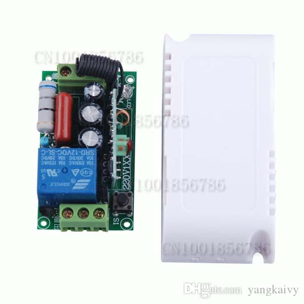 AC220V 1CH 10A Remote Control Light Switch Relay Output Radio Receiver Module and Waterproof Transmitter