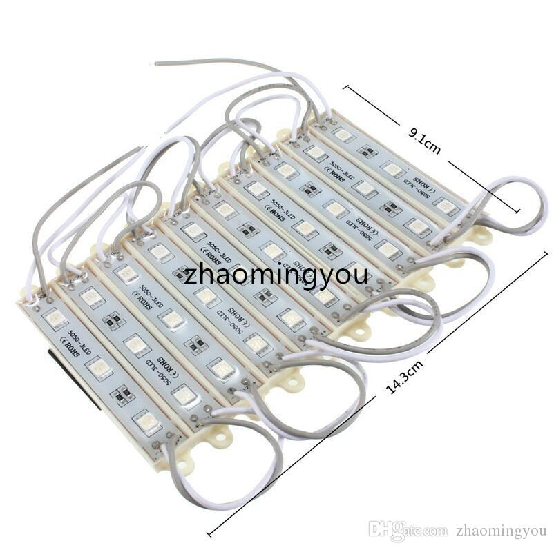 Vente Chaude Durable 5050 SMD 3 LED Module LED Bande De Bande De Lumière De La Lampe Lampe Multi Couleurs Étanche IP68 DC12V
