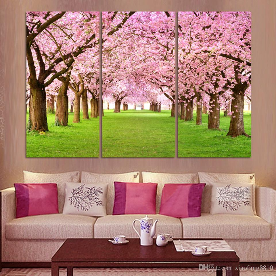 3 Panel Modern Printed Tree Painting Picture Cuadros Sunset Canvas Painting Wall Art Home Decor For Living Room No Frame2