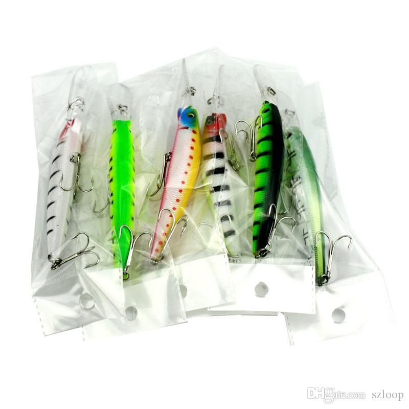 6 Renkler 14.5 cm 14.7g Büyük Oyun Balıkçılık Lures Plastik Sert Yem Balıkçılık Pesca Balık Wobbler Mücadele Minnow Yapay Cazibesi Swimbait 2508012