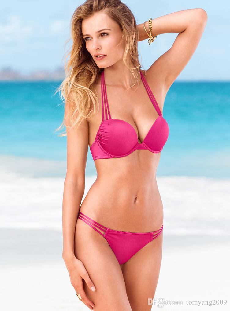 es Bikini caliente traje de baño Sujetador con aros Bkini Push-Ups Bikini Sólido y traje de baño de tigre te hace Bikini caliente y sexy traje de baño